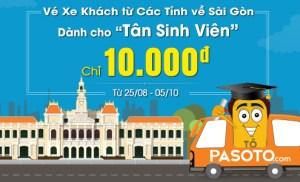 Vé xe đi Sài Gòn giá rẻ cho Tân sinh viên 2015