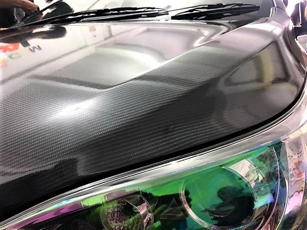stiker carbon mobil toyota yaris kap mesin | 081227722792 | gloss kap mesin kilap