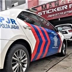 cutting stiker mobil bandung polisi