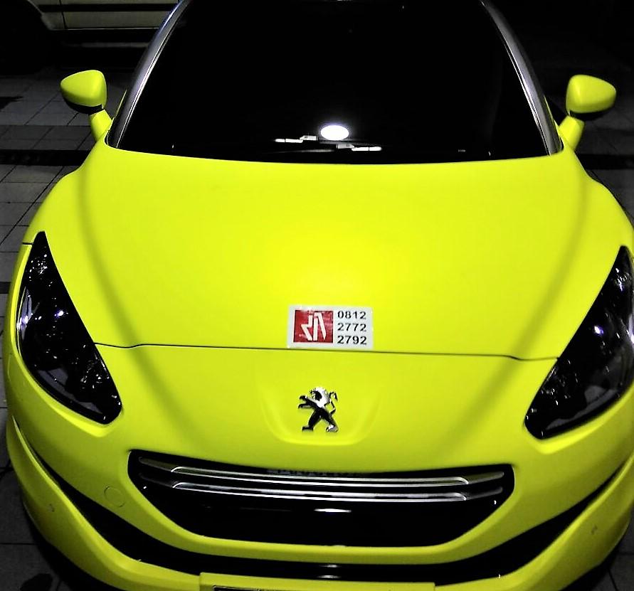 stiker mobil bandung peugeot kuning brimstone keren kualitas Mangele sticker