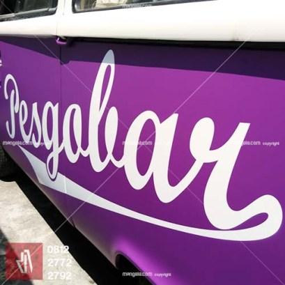 kualitas mangele sticker car branding stiker mobil bandung pesgobar ungu doff