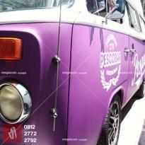 car branding stiker mobil bandung pesgobar ungu doff kualitas mangele sticker