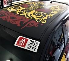 cutting stiker mobil yaris tibal dayak   081227722792