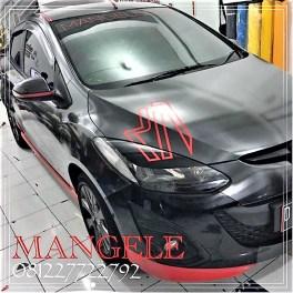 stiker carbon hi-gloss mobil bandung Mazda.