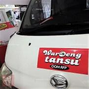 stiker branding mobil usaha di bandung