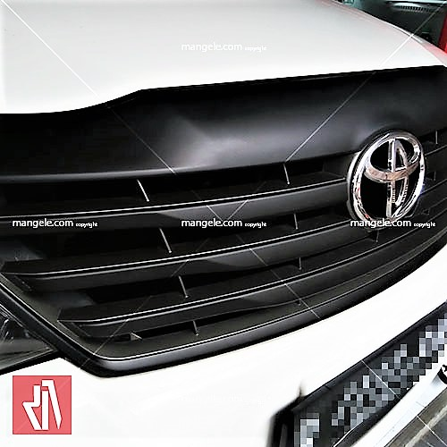 wrapping sticker mobil toyota bandung | grill part hitam doff