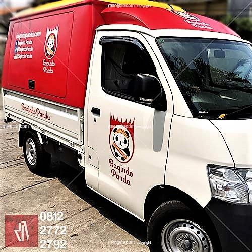 branding stiker mobil usaha bandung | food truck call mangele sticker 081227722792