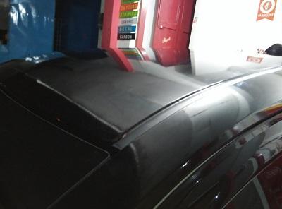 wrapping stiker atap   hitam doff di bandung   mangele stiker 081227722792