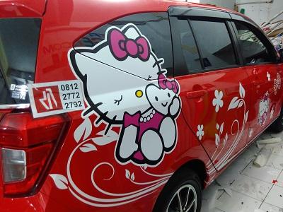 cutting stiker mobil | calya hello kitty bandung | mangele stiker 081227722792
