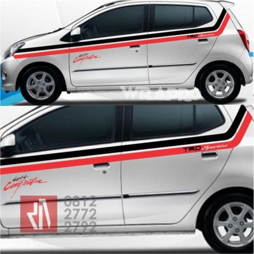 stiker cutting mobil   cutting line atas agya ayla bandung   mangele stiker 081227722792