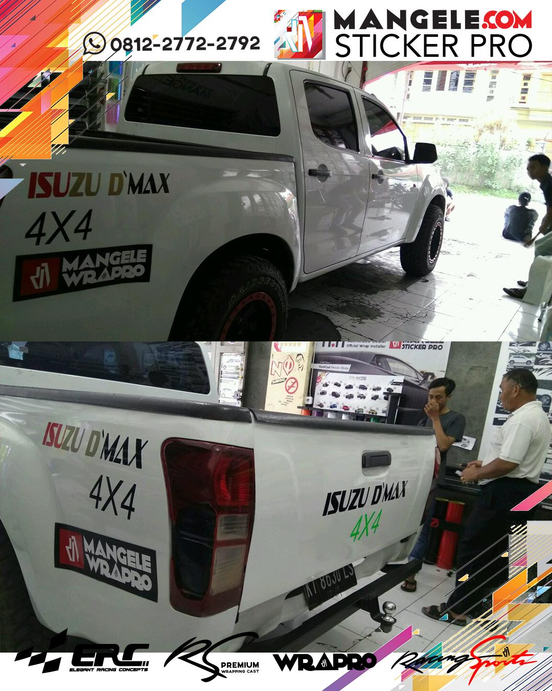 stiker cutting mobil | Cutting Isuzu D'Max | mangele stiker 081227722792