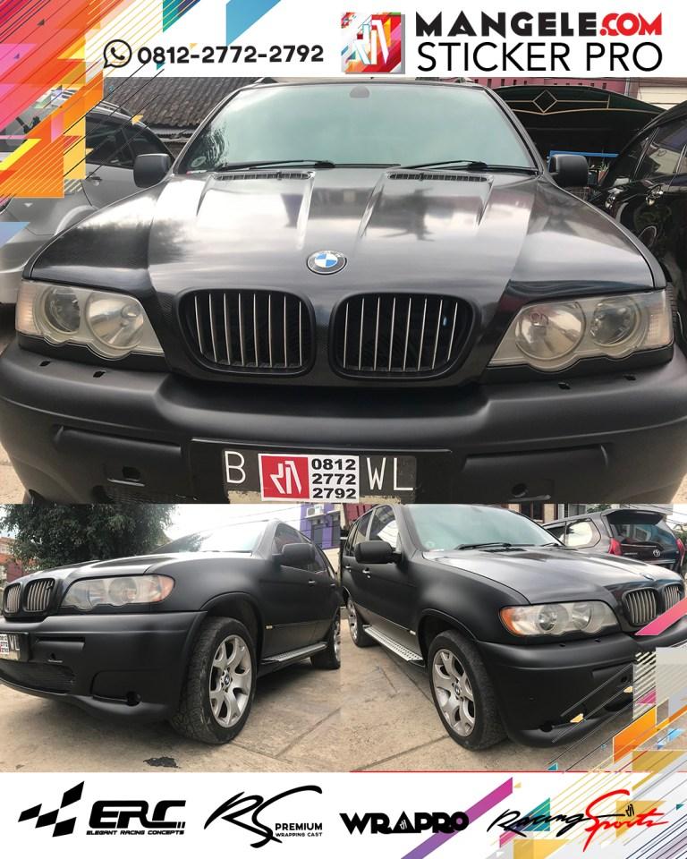 wrapping stiker mobil | BMW Kap Mesin Carbon | mangele stiker 081227722792