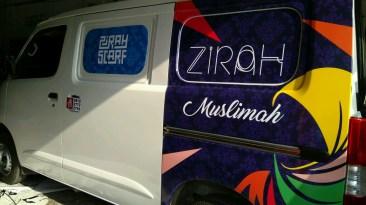 stiker mobil bandung branding zirah muslimah mangele