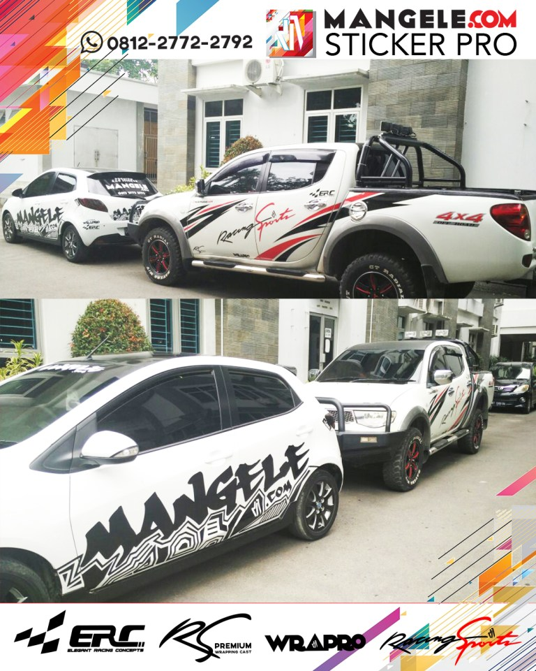 stiker cutting mobil | Cutting ERC Racing Sport | mangele stiker 081227722792
