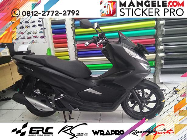 wrapping stiker motor | PCX Stiker Hitam Doff di Bandung | mangele stiker 081227722792