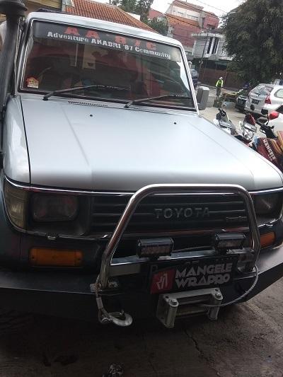wrapping stiker mobil | Kap mesin Silver doff di Bandung | mangele stiker 081227722792