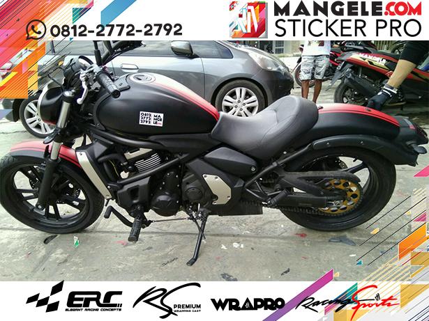 wrapping Cutting stiker motor | Kawasaki Stiker Hitam Doff Variasi Cutting Keren | mangele stiker 081227722792