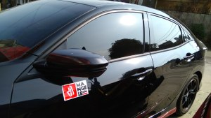 honda civic spion carbon 6d mangele stiker