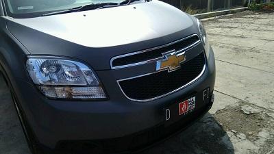 wrapping stiker mobil | abu tua stiker chevrolet di Bandung | mangele stiker 081227722792