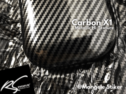carbon x1 metallic hi texture gloss