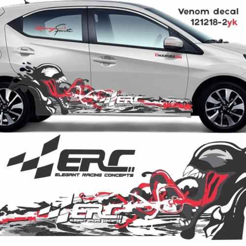 Venom decal print cutting sticker mobil anti gores