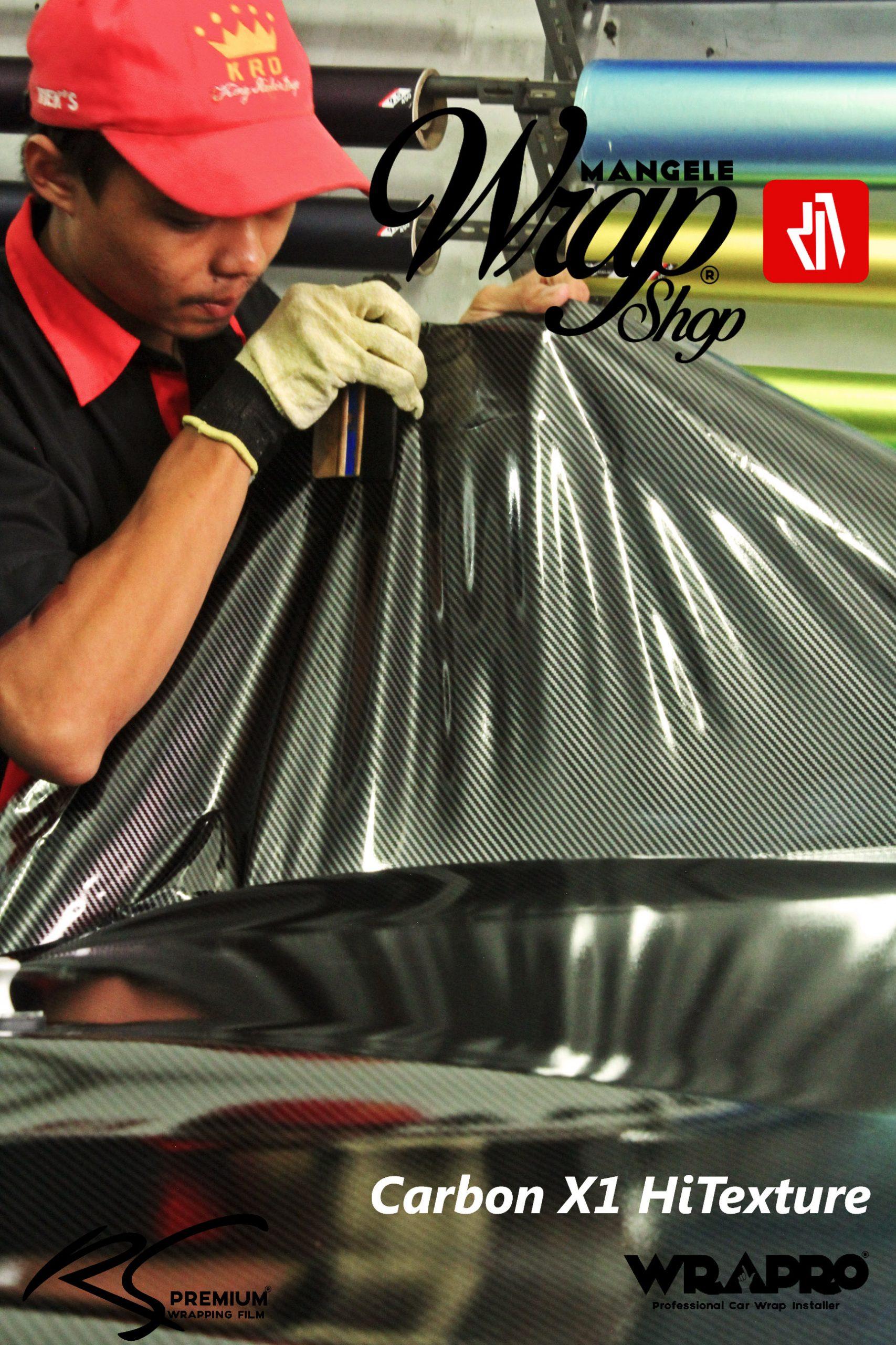 MANGELE Stiker Carbon X1 HiTexture Gloss Motor Mobil Bisa