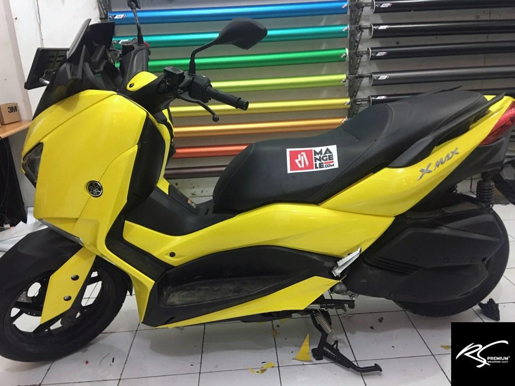 mangele stiker motor bandung wrap xmax sticker kuning gloss rs Premium