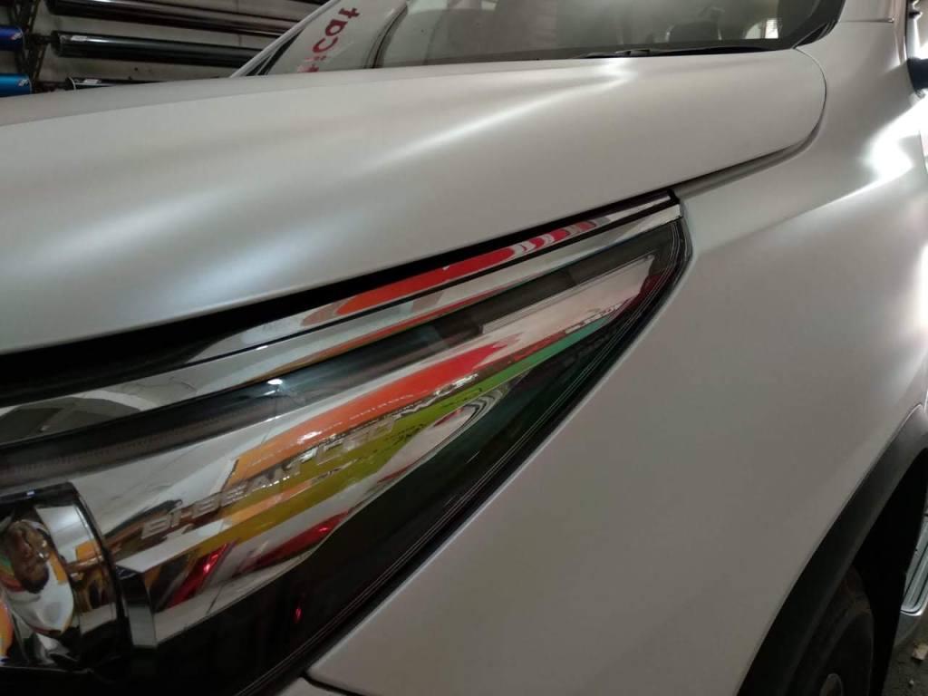 putih metalik doff stiker mobil mutiara