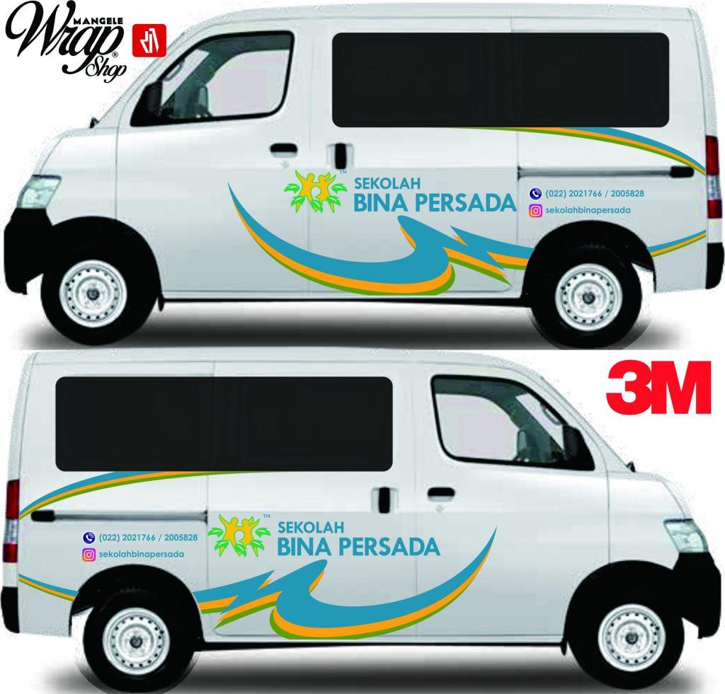 stiker mobil branding xpert bandung mangele sticker 3M kualitas TOP