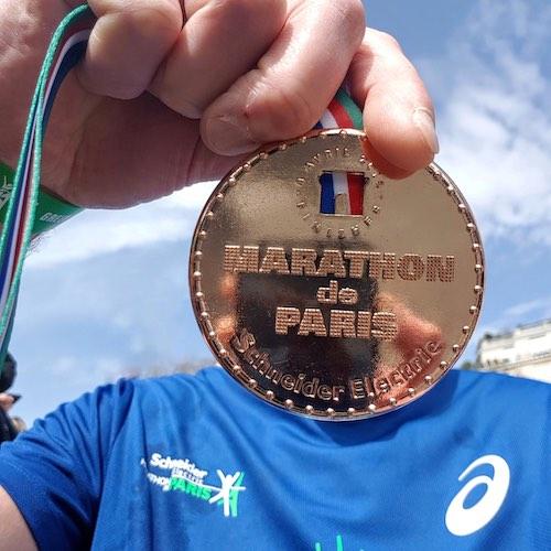 La Médaille du marathon de paris