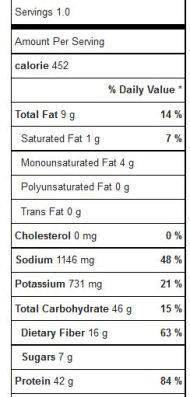 insalata seitan, quinoa, lenticchie