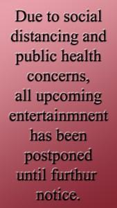 Events Postponed @ Mangia Tutto
