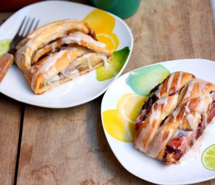 Dessert Braids: Nutella, Strawberry, and Banana/Cinnamon Roll
