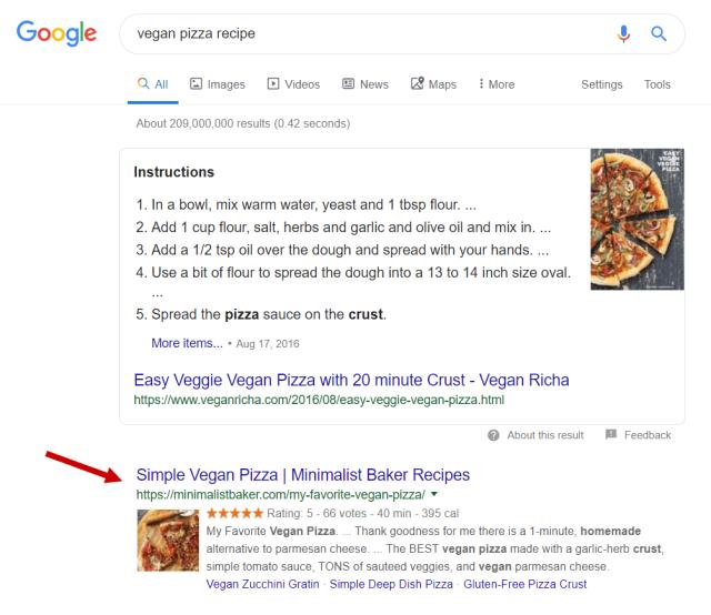 نباتي بيتزا سيرب