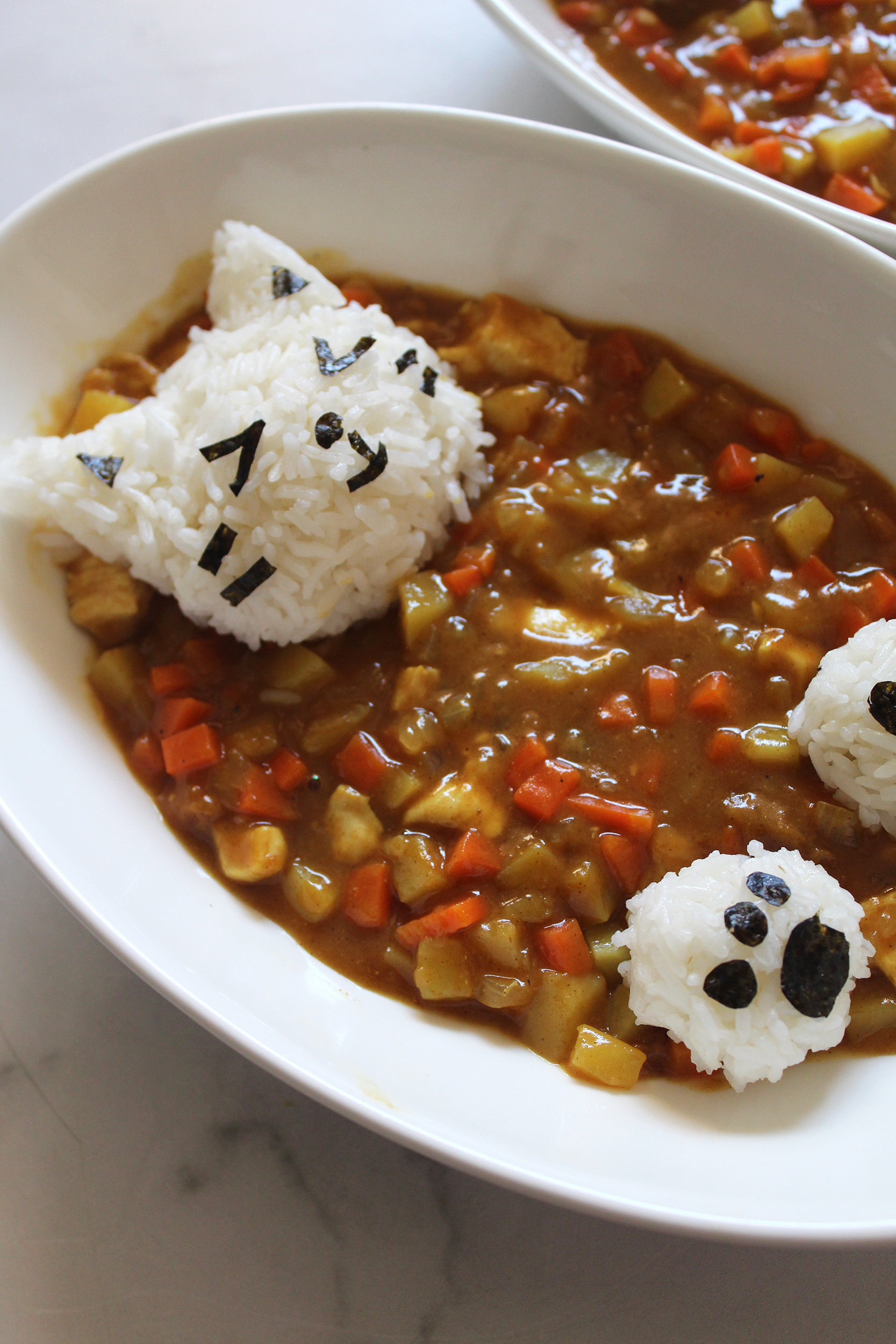Japanese Curry With Cat Rice Balls Mango S Home Kitchen