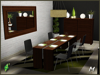 Modern furniture innerthoughtsofsims for Sims 3 dining room ideas
