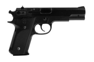 Triggered: pistol with trigger