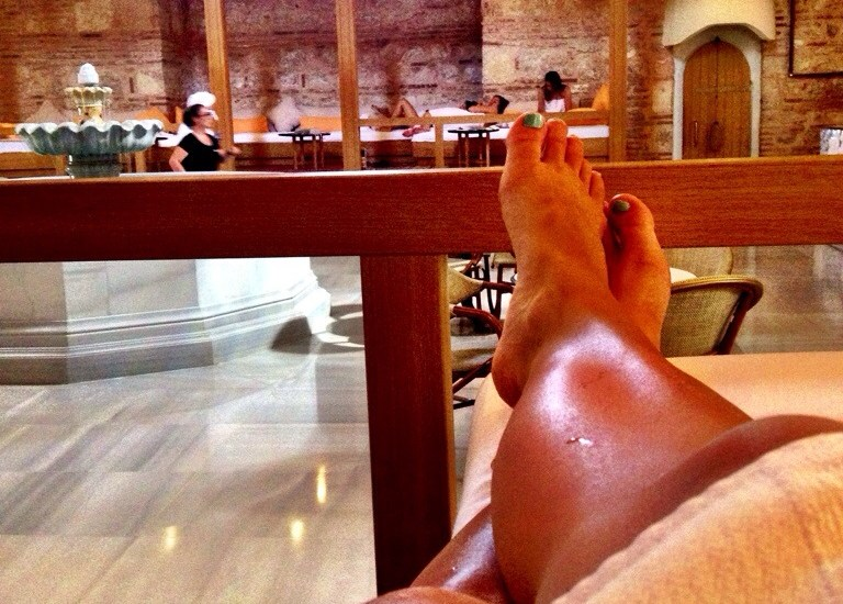 How a Turkish bath feels more like water torture than a relaxing spa day.