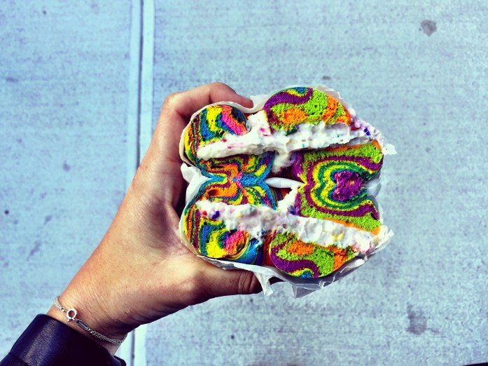 Food bloggers are posting photos. Basic white girls are getting their Instagram shots. Even hipsters are coming out of the shadows to try the rainbow bagel.