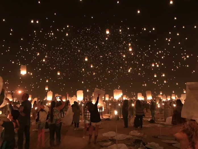 Every year, 13,000 people attend RiSE to release their lanterns into the universe.