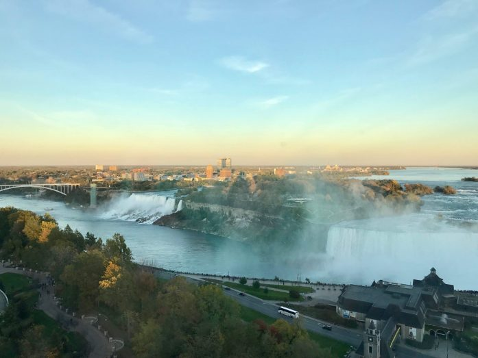 If you're heading to Niagara Falls, Ontario, splurge a little and upgrade to a Fallsview room for a breathtaking view.
