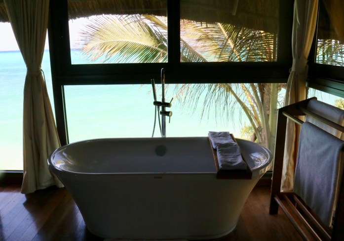 You will want to spend every night watching the sunset from this bathtub at the Melia Zanzibar.