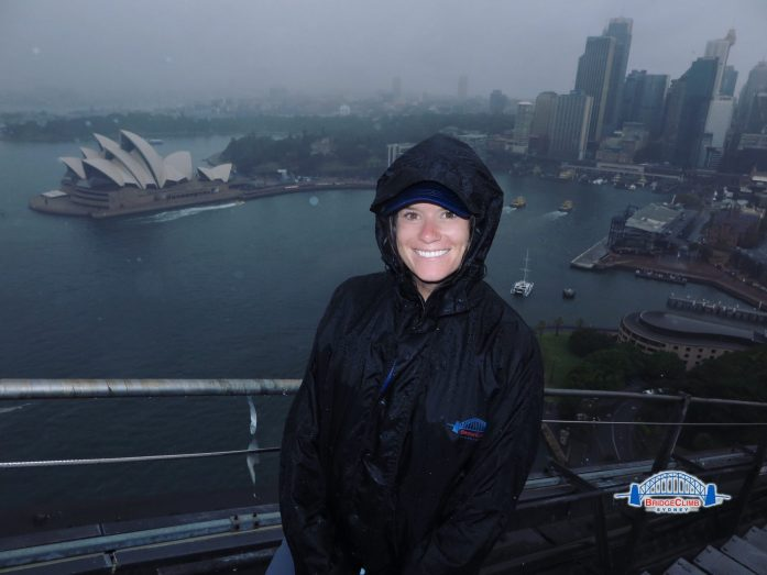 Beware of Sydney's spring rains when you plan your harbor bridge climb in Sydney.