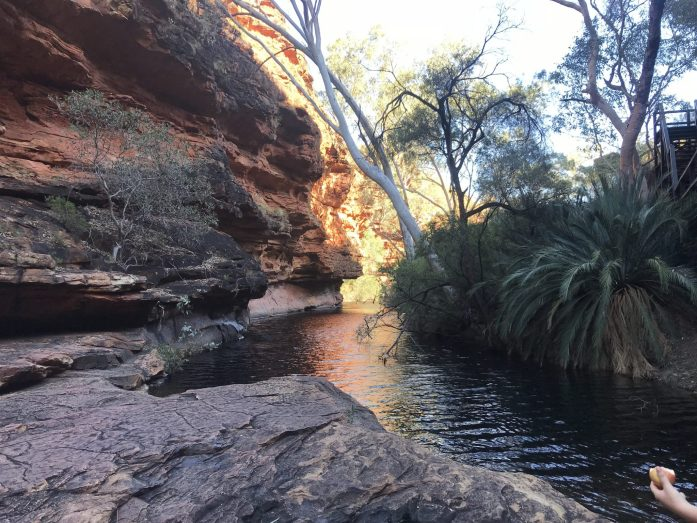The Garden of Eden is some of the only water you'll see on the King's Canyon rim walk.
