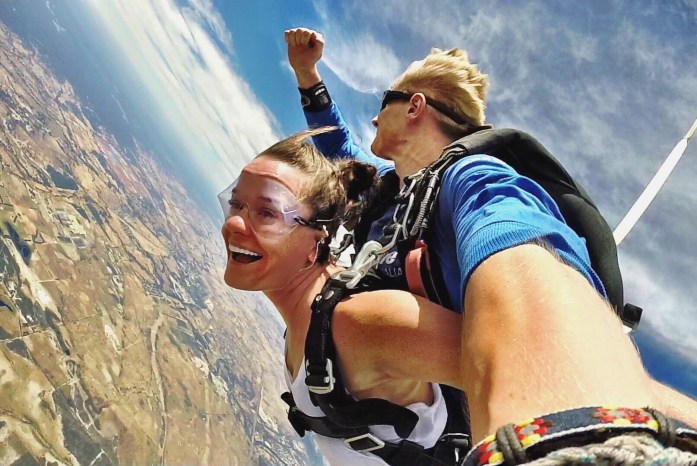 In Perth, Australia you can skydive and land on the beach!