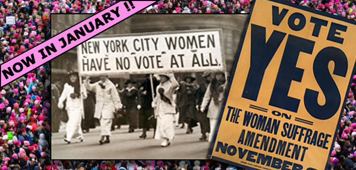 JANUARY : NYS WOMEN'S SUFFRAGE – 100 YEARS!