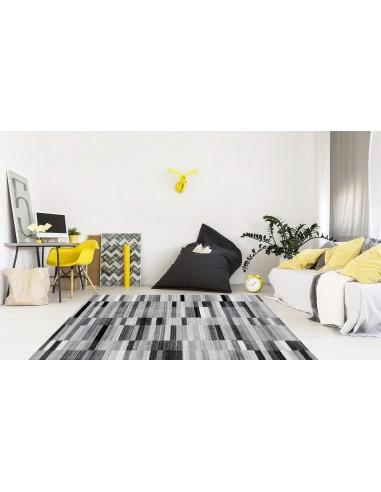 tapis geometrique noir