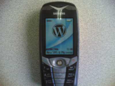 Wordpress Logo in mobile