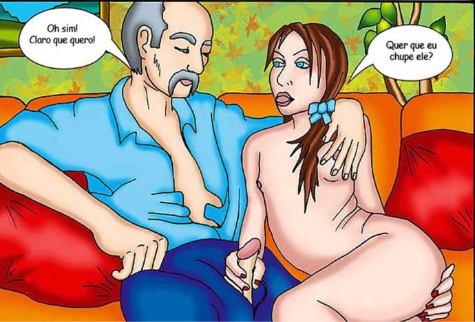 Vovô safado Fodendo a Neta – Incesto Comics