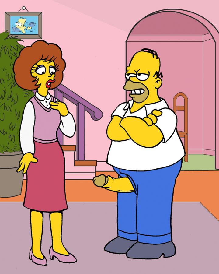 Os Simpsons – Homer fudendo a buceta da vizinha